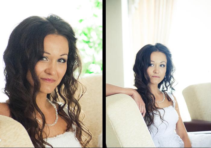 Свадебная прическа и макияж - Валерия