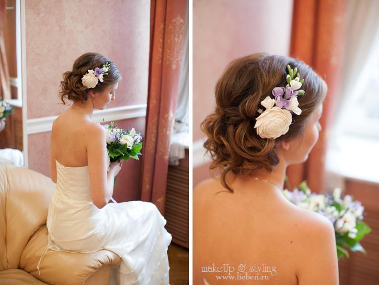 Свадебный образ для Анастасии - легкий и нежный!