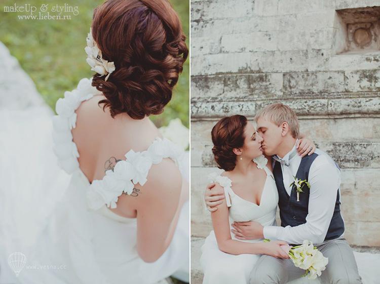 Мои невесты - Светлана! Нежный макияж и прическа с цветами.